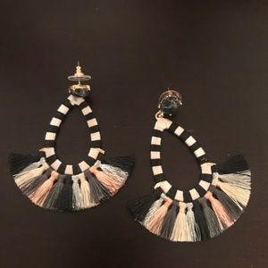 Bauble Bar tassel earrings never worn